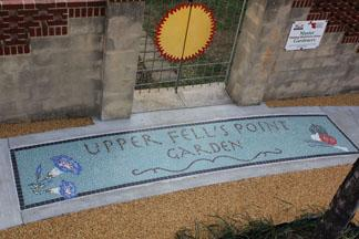 A community garden mosaic completed in Nov. 2012 Credit: Upper Fells Point Improvement Association