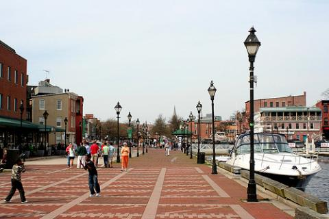 A well-known area in Fells Point-the waterfront. Credit: Izik/Flickr