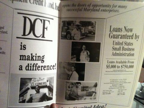 An advertisement for the Development Credit Fund, Inc. In this segment, Neil Muldrow tells us the story of the woman in the second picture down on the right.