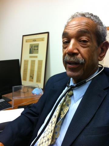 Dr. Keiffer Mitchell, Sr., in his office at The Rotunda in North Baltimore.