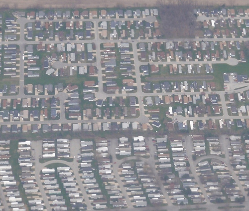 Suburbs from the sky. Credit: flickr/pinkmoose